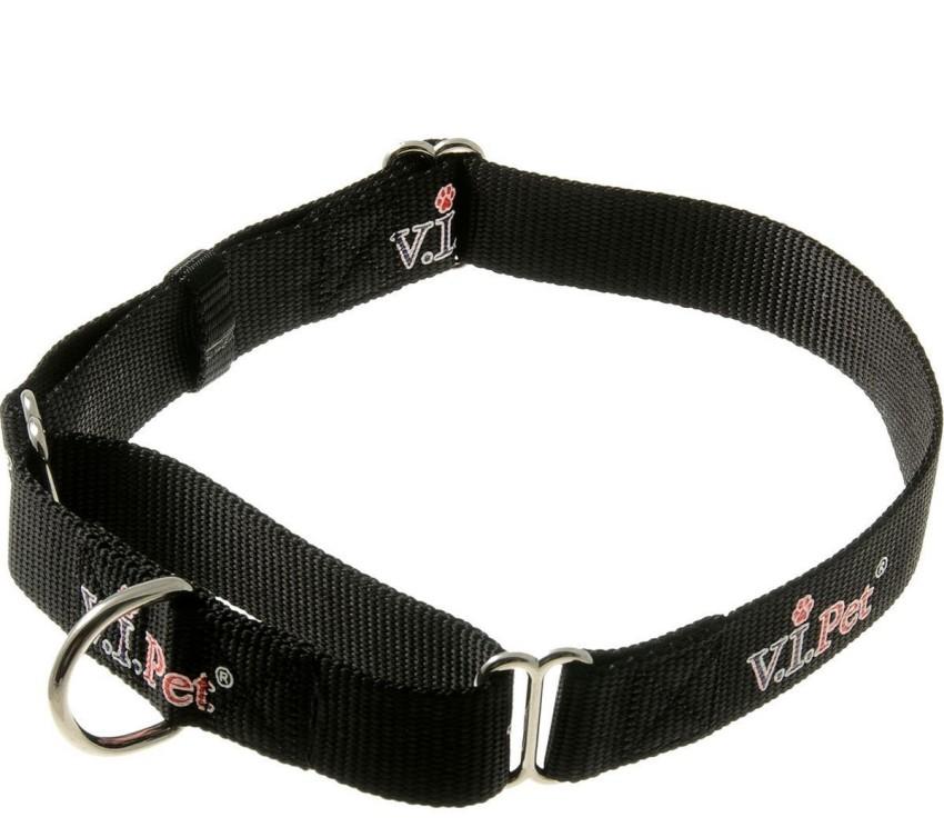 Ошейник для собак ZooOne, мартингал, черный, 25 мм x 40-60 см
