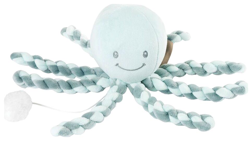 Купить Игрушка мягкая Nattou Musical Soft toy Lapidou Octopus coppergreen – mint,