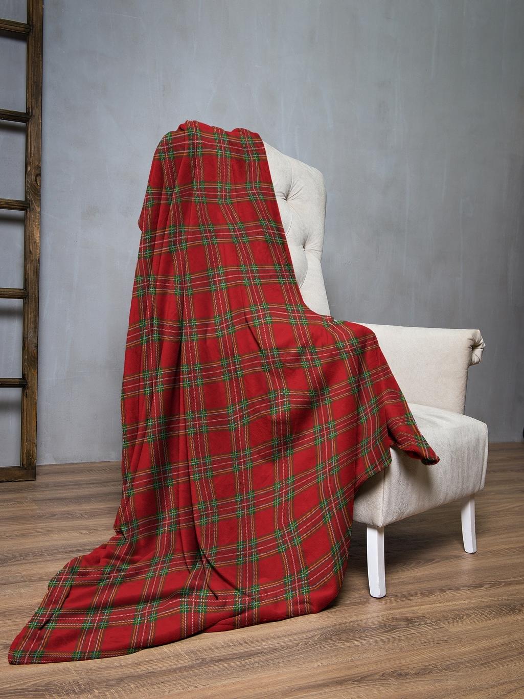 Плед флис 145х200 Шотландская клетка IQ Komfort