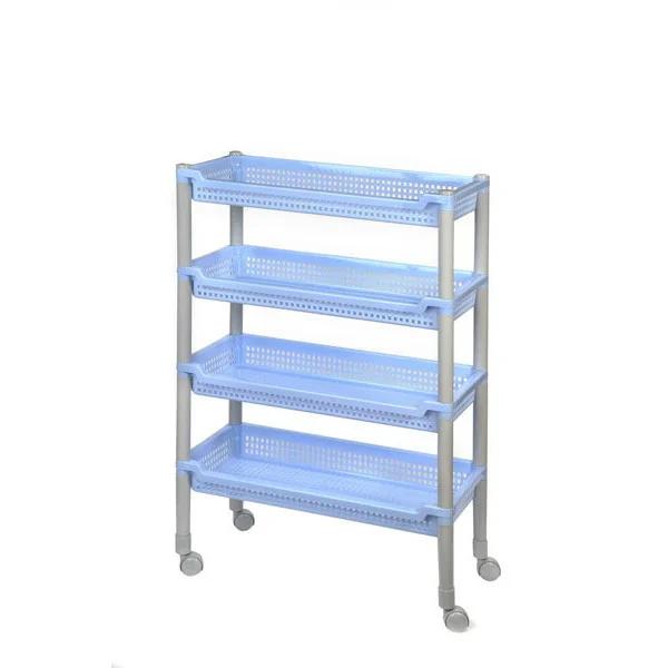 Этажерка Полимербыт Флер С384 47,5х22,5х63 см, голубой/серый