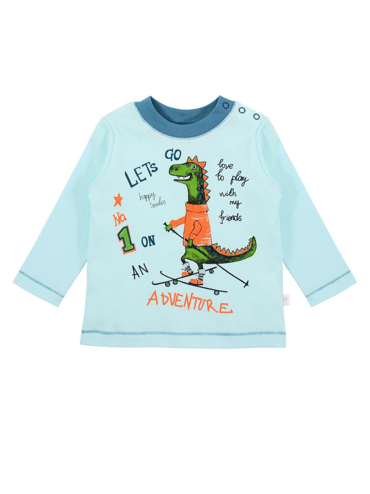 Купить Джемпер.для мальчика Мамуляндия 19-935 Интерлок, Св бирюзовый р. 92, Кофточки, футболки для новорожденных