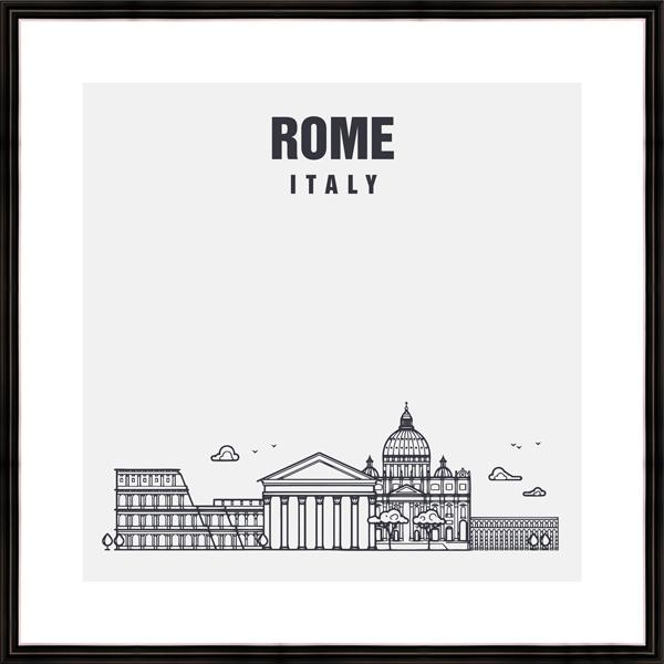 "Картина в багете 40х40 см ""Rome"" Ekoramka BE-103-453"
