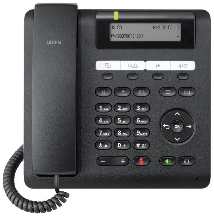 Телефон SIP Unify OpenScape CP200 Черный (L30250-F600-C426).