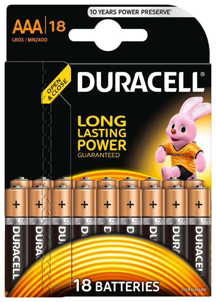 Батарейка Duracell BASIC LR03-18BL 18 шт фото