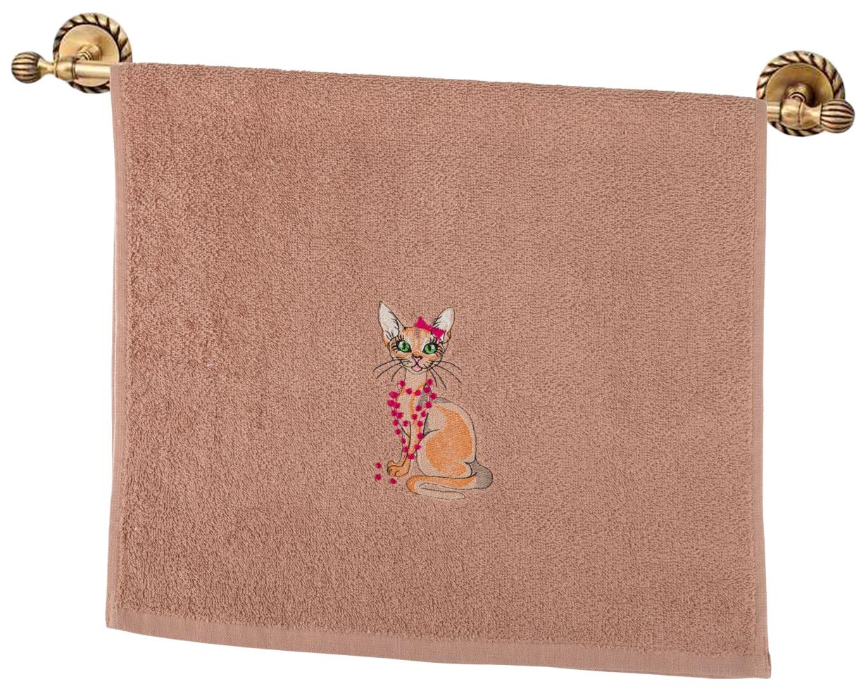 Банное полотенце, полотенце универсальное Santalino коричневый