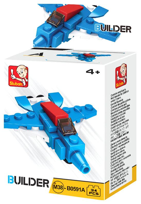 Купить Конструктор пластиковый Sluban Строитель M38-B0591A Builder 26 Деталей, Конструкторы пластмассовые