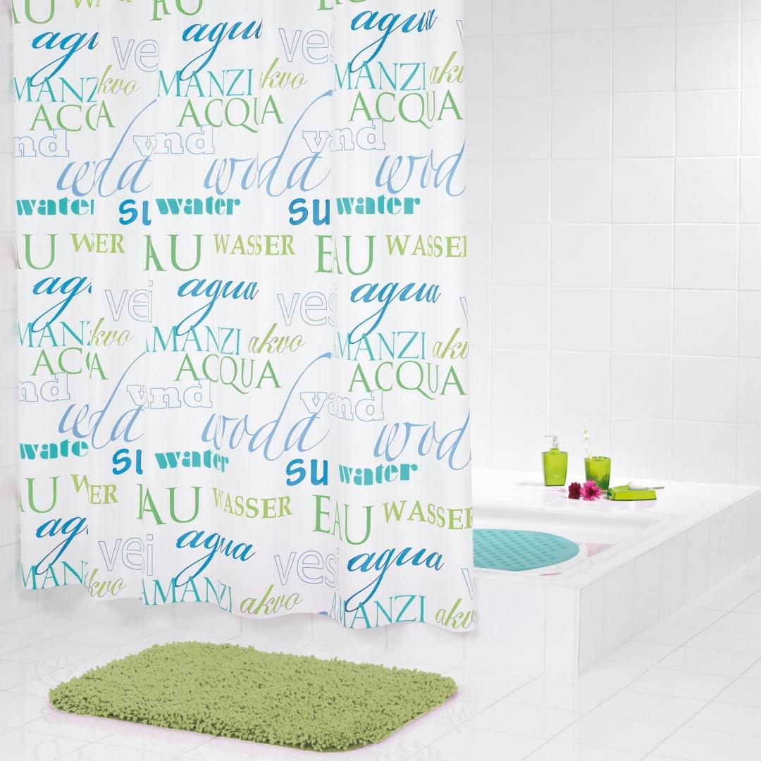 Штора для ванных комнат Woda синий/голубой 180*200