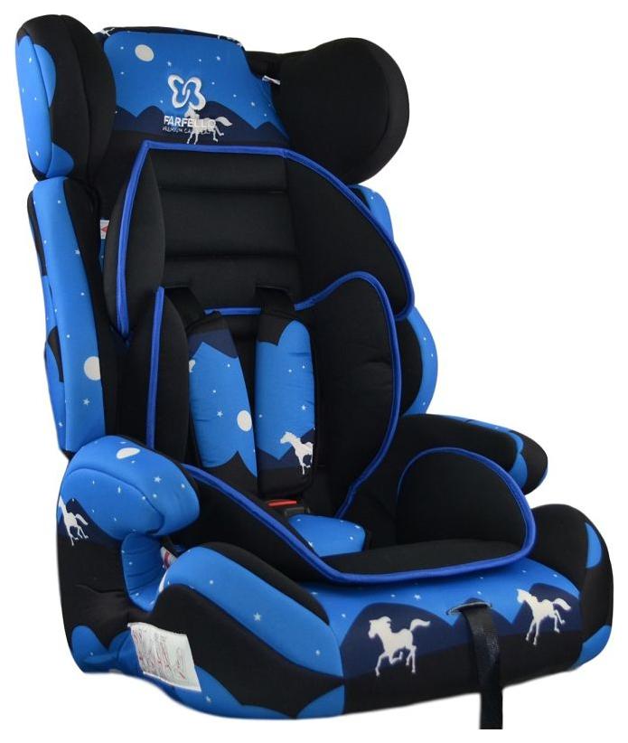 Автокресло детское Farfello GE-E Ночное небо Royal Blue+Colorful