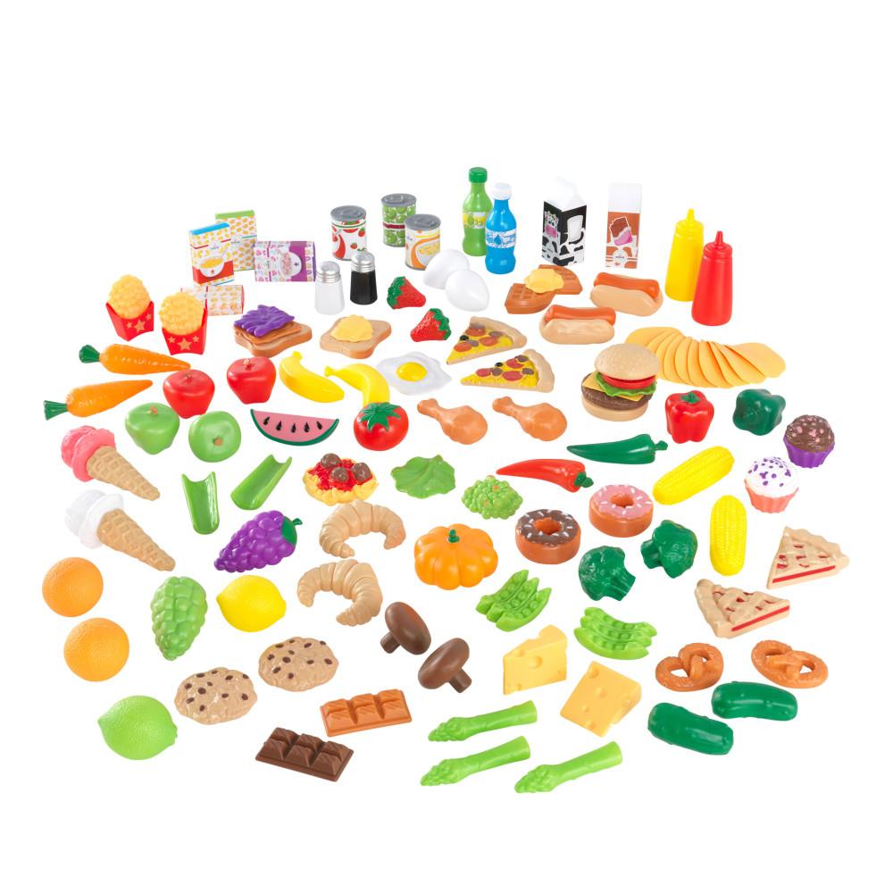 Купить Игрушечные кухни, Набор еды KidKraft вкусное удовольствие 115 элементов, Игрушечные продукты