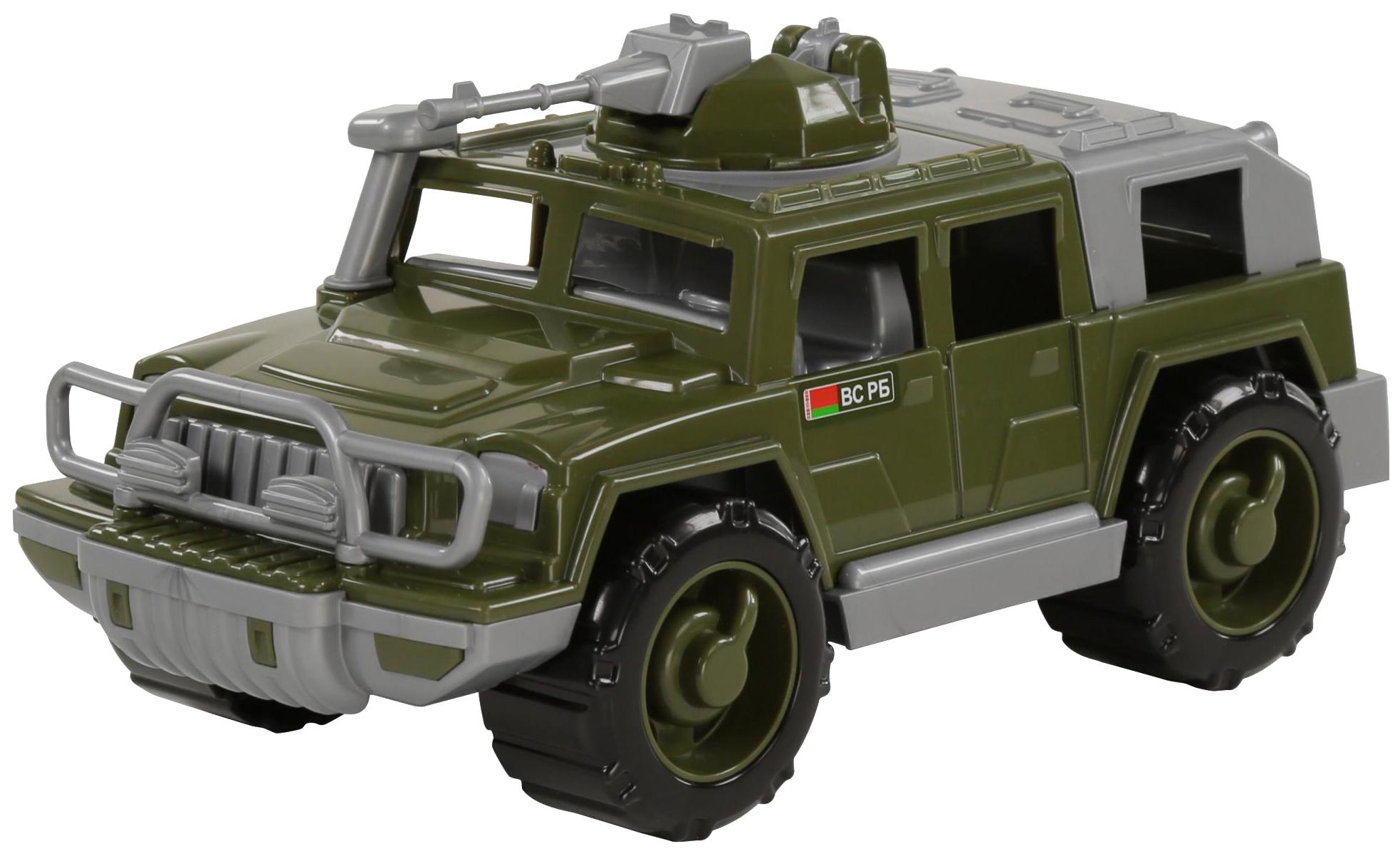 Купить Игрушки, Автомобиль-джип Полесье военный Защитник с 1-м пулемётом, Игрушечные машинки