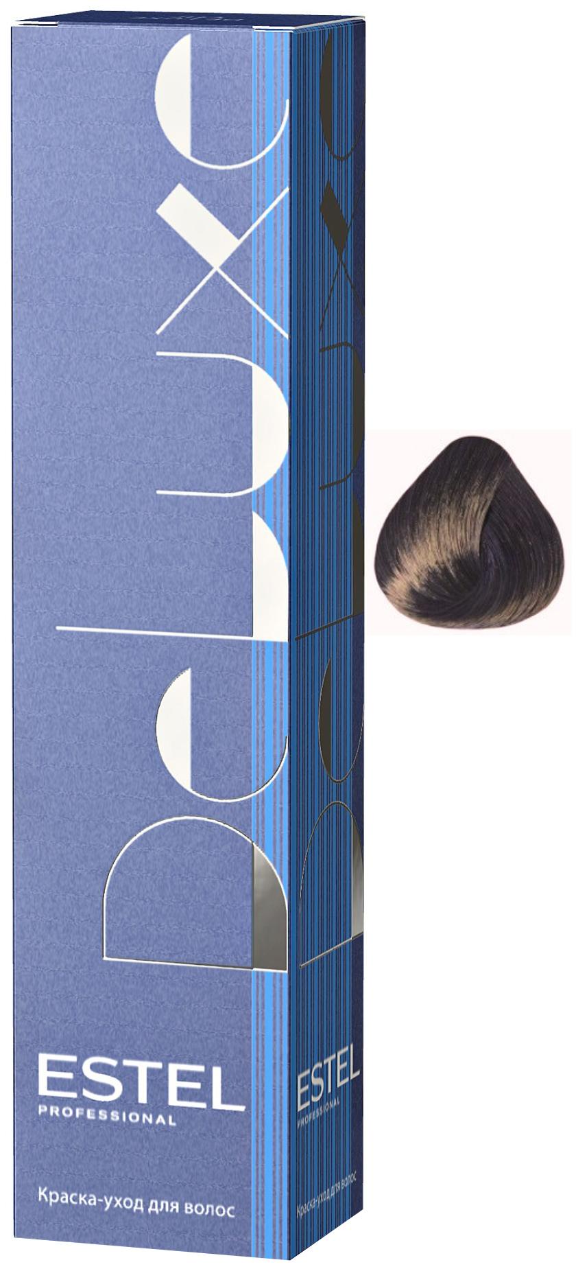 Краска для волос Estel Professional De Luxe 60 мл 7/16 Русый пепельно-фиолетовый 60мл