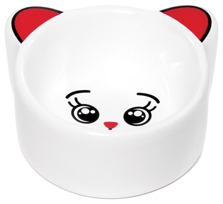 Одинарная миска для грызунов Triol, керамика, белый,