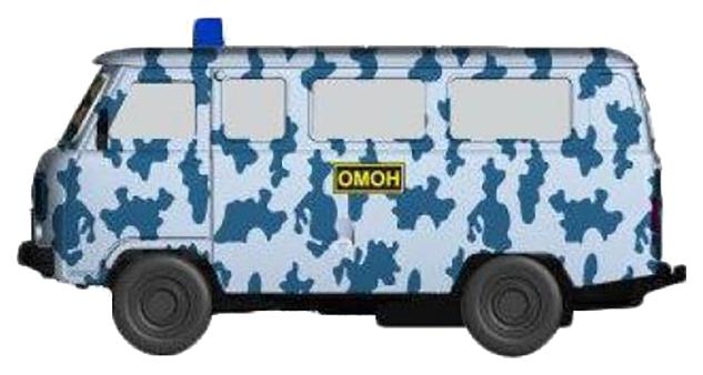 Купить Легковая машина Play Smart ОМОН Р41133 Белый, синий, PLAYSMART, Военный транспорт