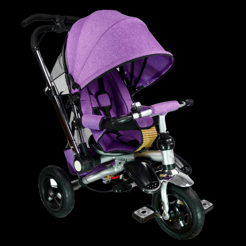 Купить Велосипед детский трехколёсный Farfello TSTX010 лён фиолетовый арт.TSTX010/3, Детские велосипеды-коляски