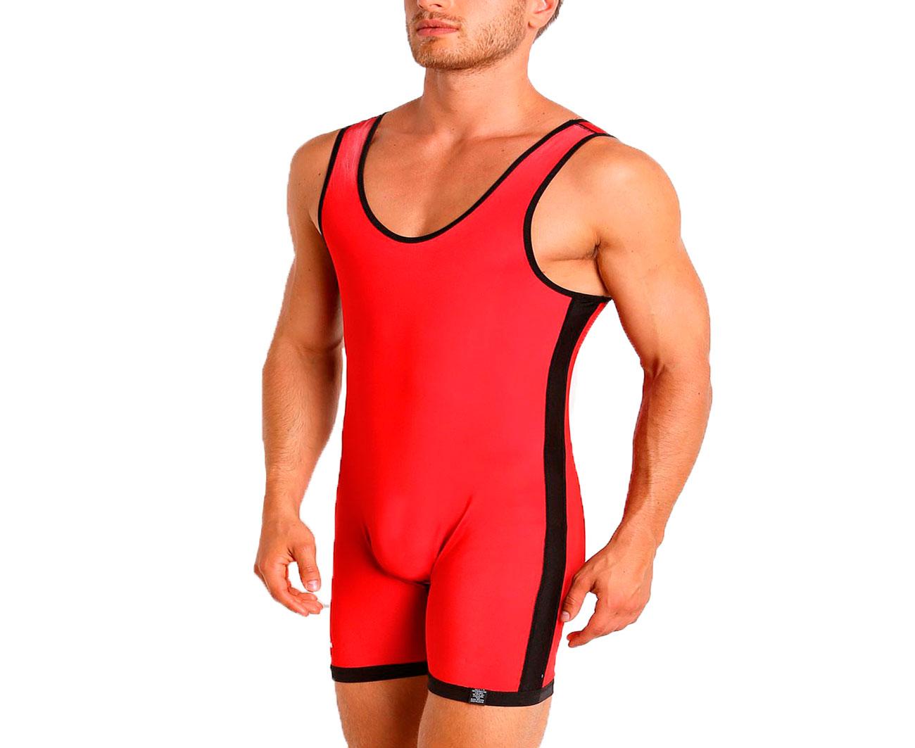 Трико борцовское Adidas двухстороннее Wrestling Reversible Singlet сине-красное XS