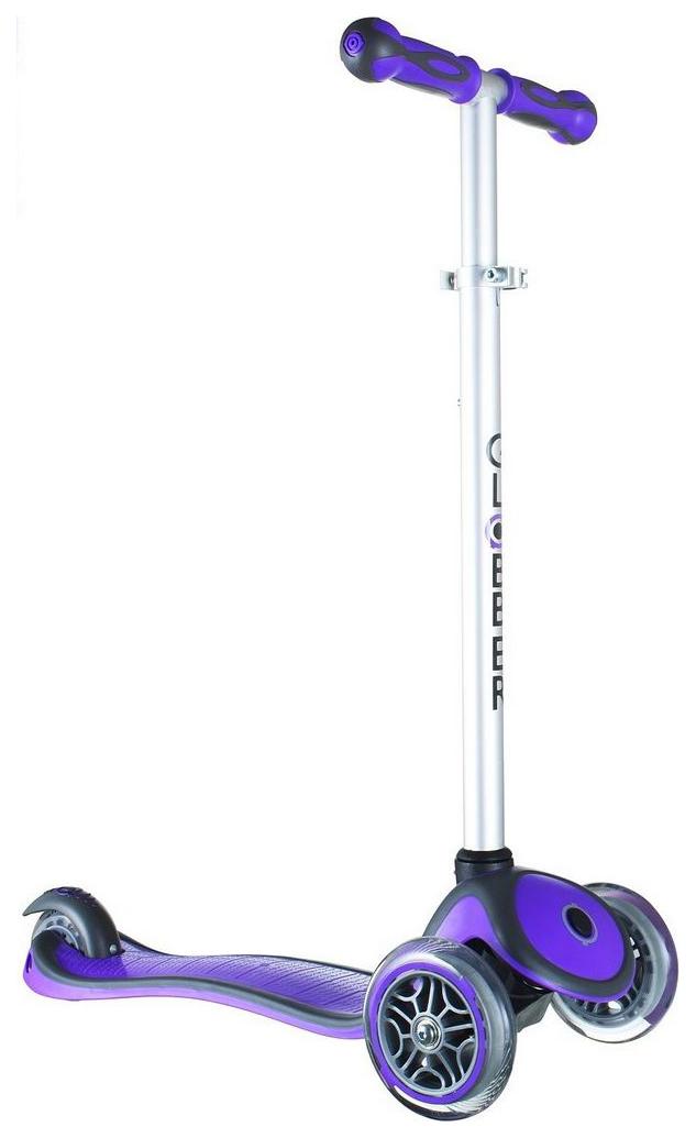 Купить Самокат Y-Scoo Globber My free New Technology с блокировкой колес Purple, Самокаты детские трехколесные