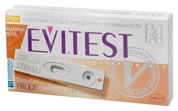 Тест кассета на определение беременности Evitest Proof