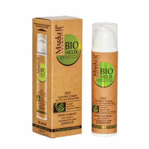 Купить Крем-комфорт дневной Markell Bio Helix с муцином улитки для сухой и нормальной кожи 50 мл