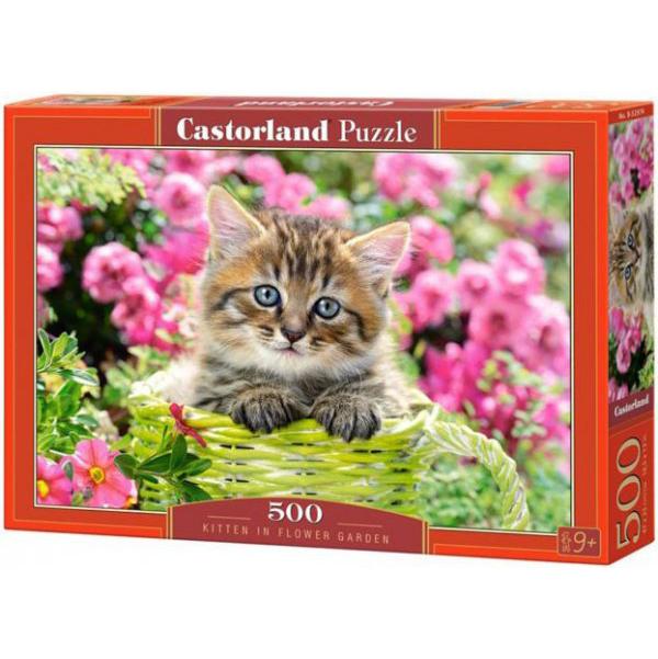 Купить CASTORLAND Пазл Котенок в саду, 500 элементов В-52974, Пазлы