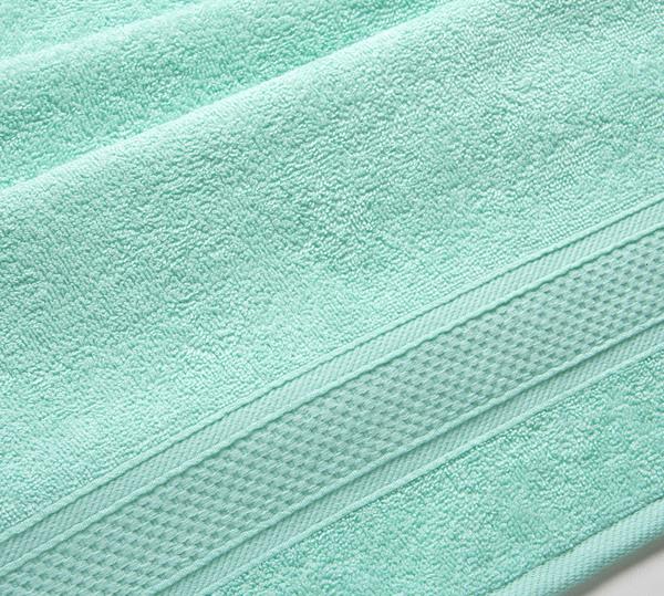 Полотенце махровое с бордюром (мятное) 50х90