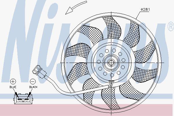 Вентилятор охлаждения двигателя NISSENS 85618