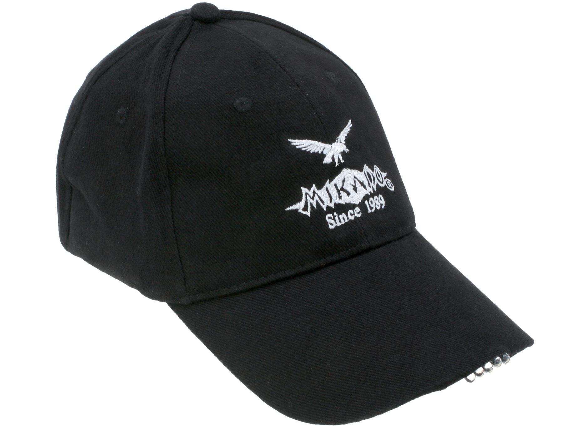 Бейсболка Mikado UM ULED01 BK, черная,