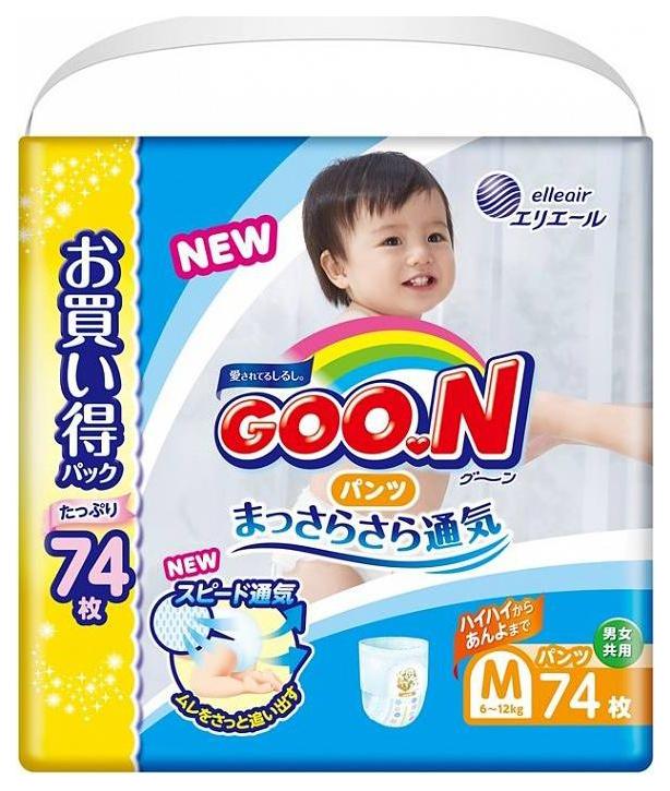 Купить Подгузники-трусики Goon Ultra Jumbo Pack М 6-12 кг 74 шт