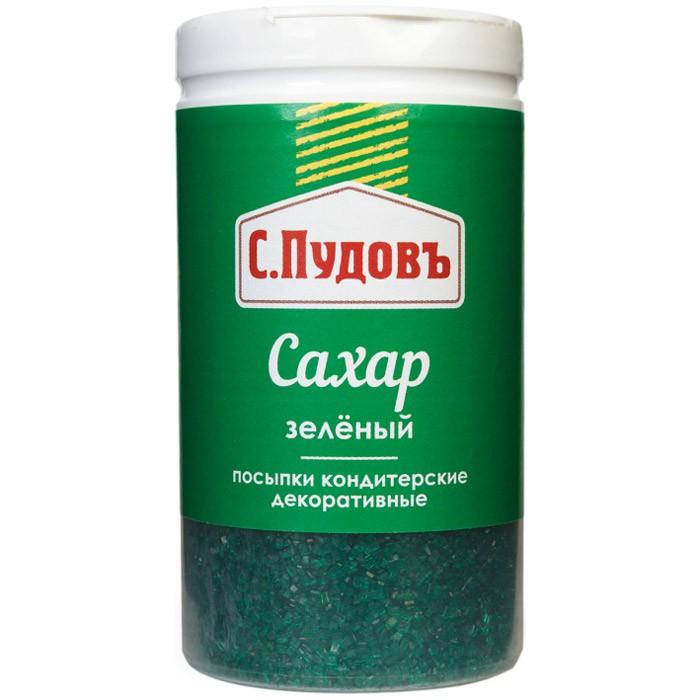 Посыпка сахар зеленый С.Пудовъ 65 г фото