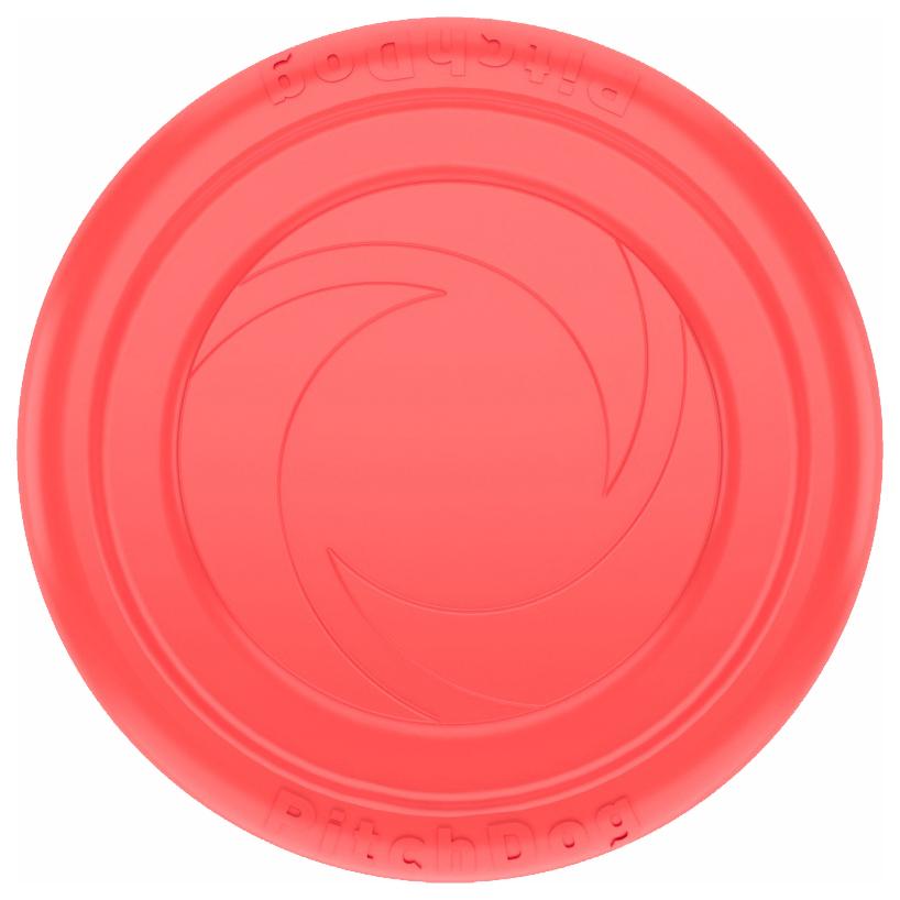 Апорт для собак PitchDog Летающая тарелка, красная,