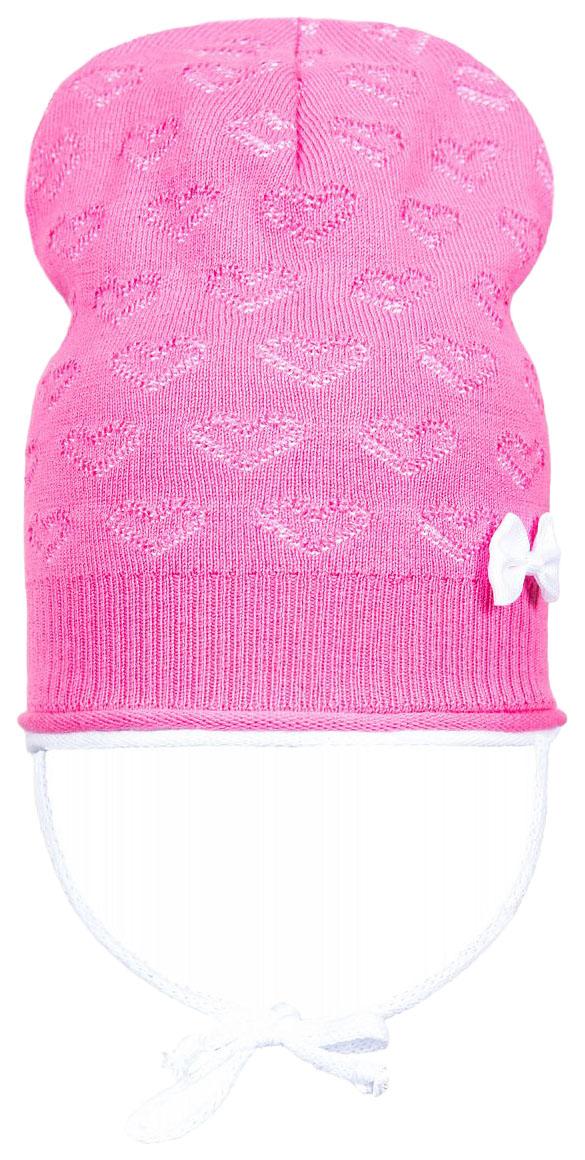 Купить Шапка детская (для девочки) Barkito, розовая с рисунком р.50-52, Детские шапки и шарфы
