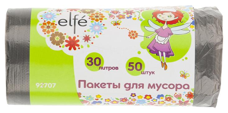 Пакеты для мусора Elfe серые 30