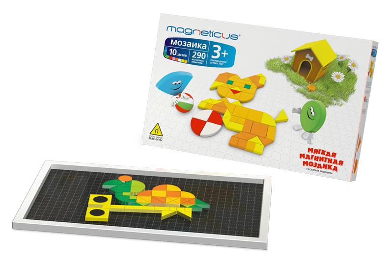 Мозаика MAGNETICUS 3+, 290 элементов / 10 цветов / 40 этюдов MM-290