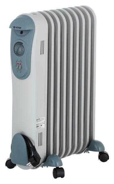 Масляный радиатор Vitek VT-2122 GY серый