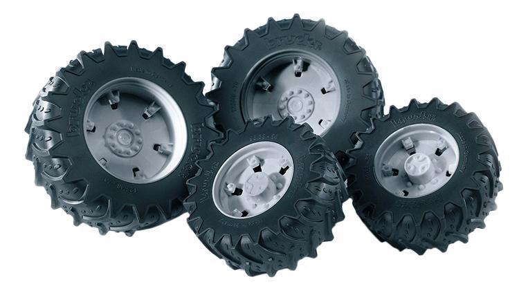 Шины Bruder для сдвоенных колёс с серыми дисками 4 шт. 12,5 см фото
