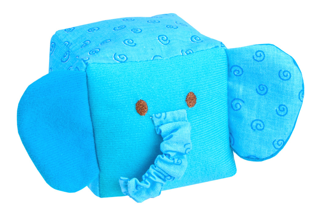 Детские кубики Мякиши Игрушка кубик Зоо Слоник 257