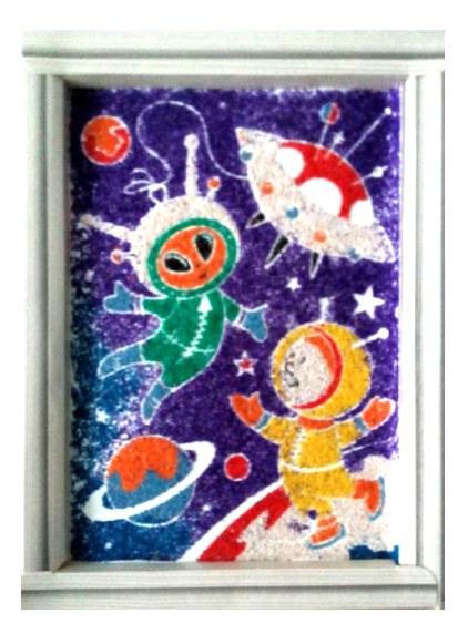 Фреска неон Фантазер Дружба в космосе 430001 фото