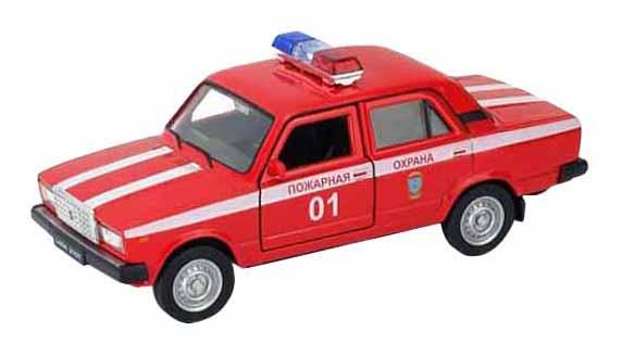 Машинка инерционная Welly 43644FS Модель машины Welly 1:34-39 LADA 2107 Пожарная охрана фото