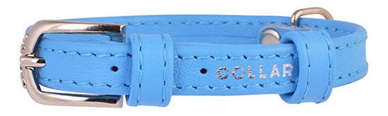 Ошейник COLLAR GLAMOUR без украшений, 12мм, 21-29см, синий
