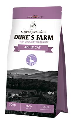 Сухой корм для кошек DUKE'S FARM, утка,