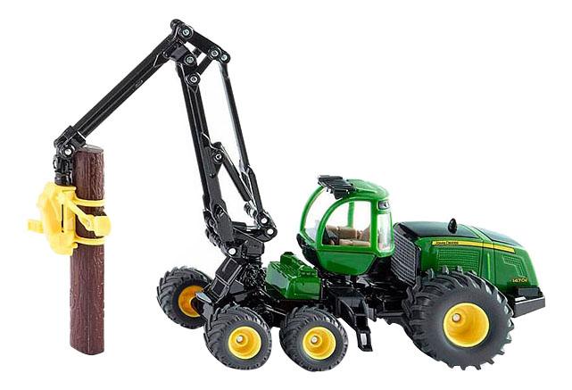 Купить Трактор Джон Дир, Трактор Siku Джон Дир с захватом для бревен, Строительная техника
