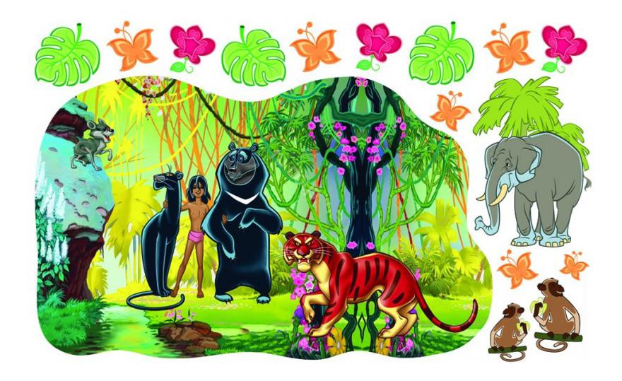 Наклейка декоративная для детской комнаты Росмэн Маугли