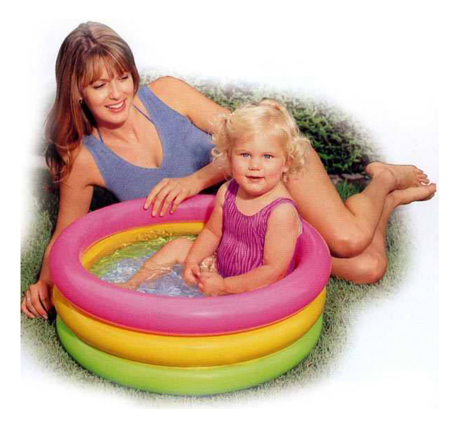Бассейн надувной Intex Sunset Glow Baby Pool, 61х22 см
