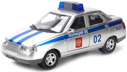 Купить Lada 110 полиция, Модель машины Технопарк Lada 110 Полиция (179342),