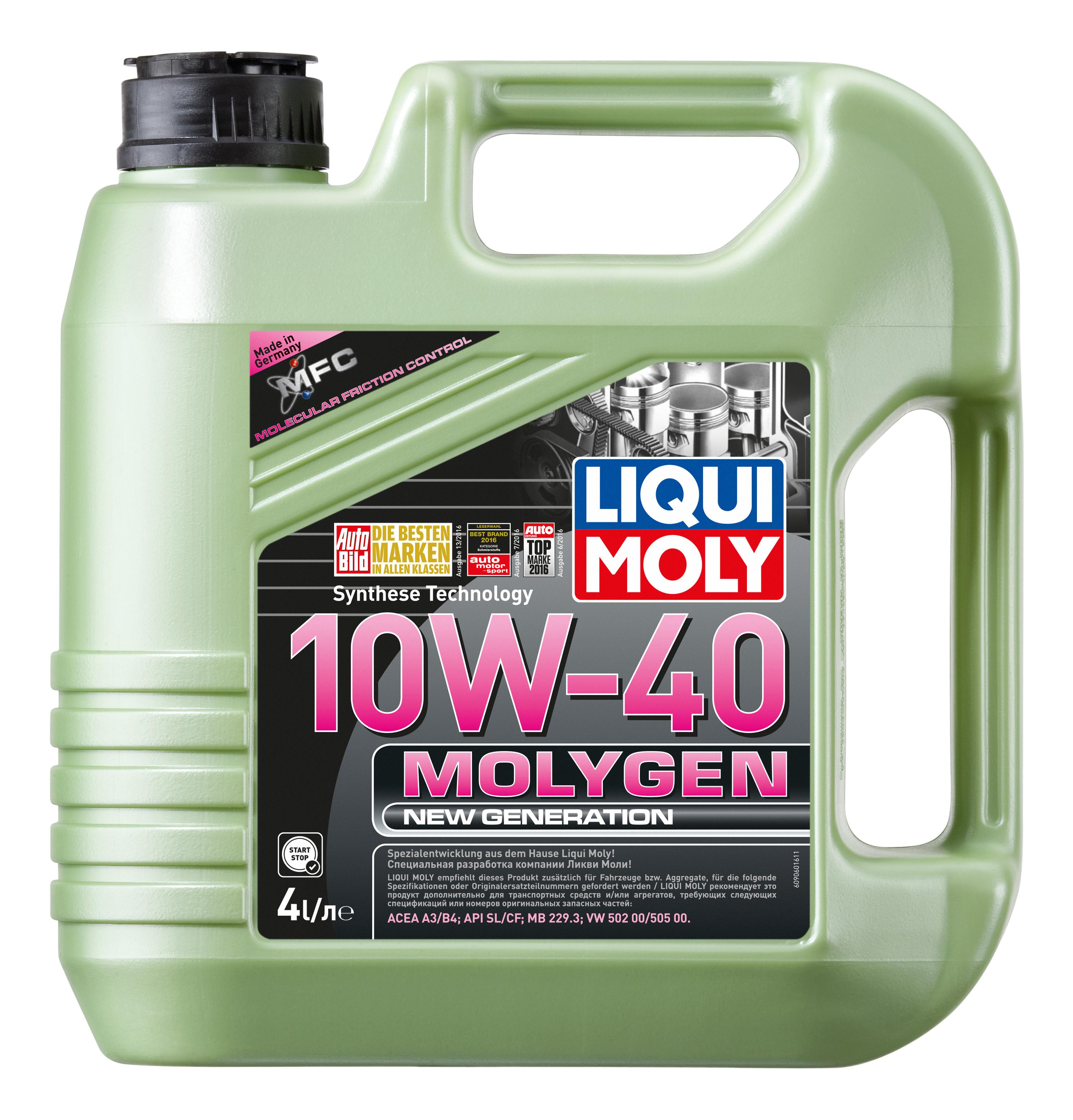 Моторное масло LIQUI MOLY Molygen New Generation 10w40 4л 9060