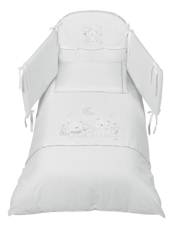 Комплект детского постельного белья Italbaby Romantic белый