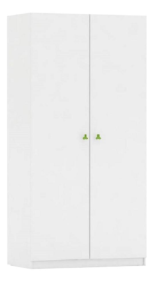 Купить Шкаф детский Polini Simple, белый-лайм, Шкафы в детскую комнату