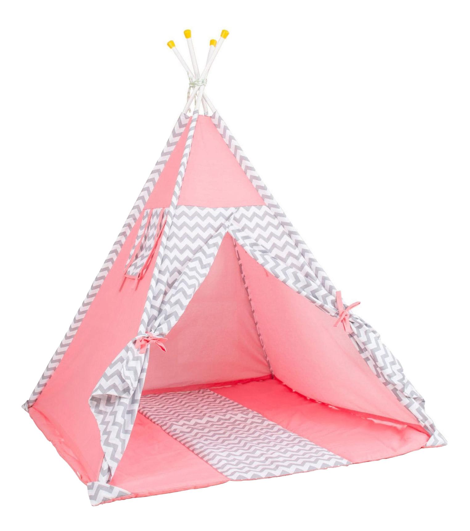 Игровая палатка Polini Зигзаг, розовый