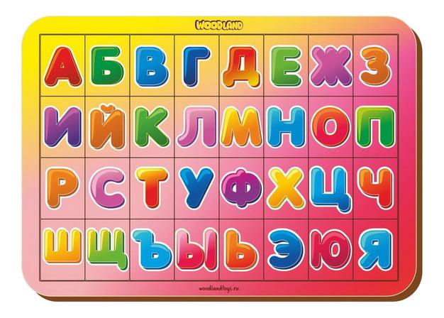 Пазл Woodland Изучаем буквы и алфавит фото