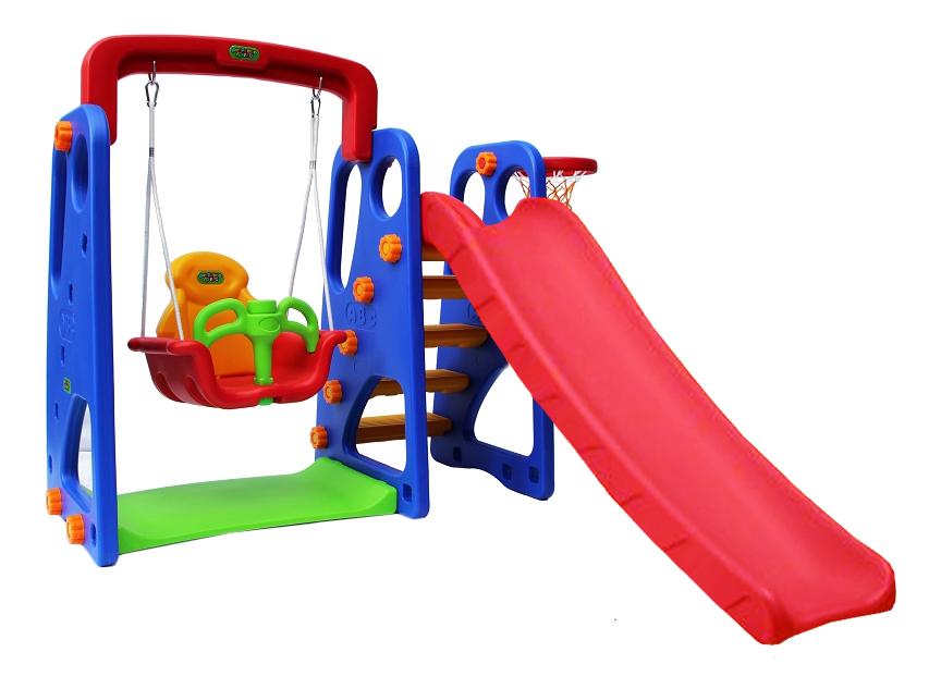 Купить Десткий игровой комплекс Горка + качели Жук PS-031 Romana, Уличные игровые комплексы