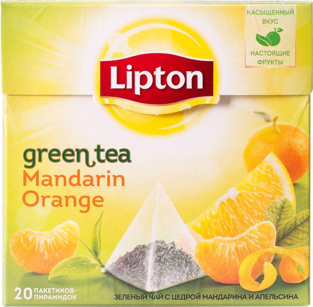 Чай зеленый Lipton mandarin orange 20 пакетиков фото